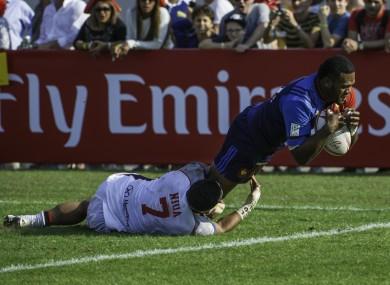 Vakatawa: Fijian-born wing has shone for France's Sevens team.