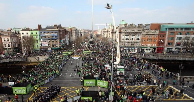 LIVEBLOG: Hundreds of thousands turn out to celebrate St Patrick's Day