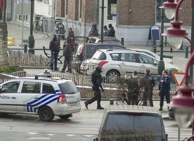 The scene in Brussels this afternoon
