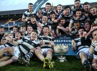Belvo players celebrate their win.