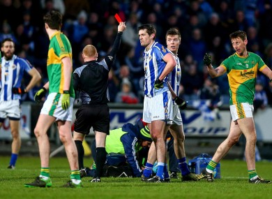 O'Mahony receiving red in February's semi-final.