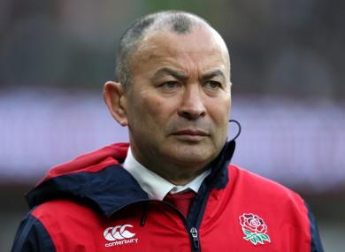 England head coach Eddie Jones.