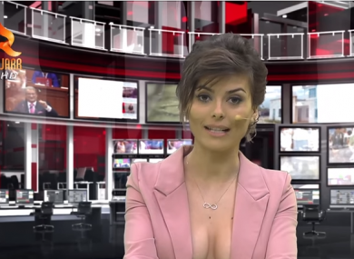 TV channel using almost topless newsreaders to boost ratings