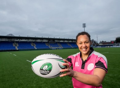 Spence helped launch the Dublin 7s festival at Donnybrook.