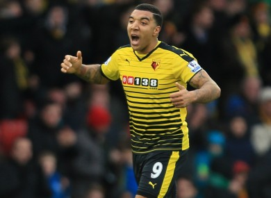 Deeney has scored nine goals in 29 league games for his club this season.