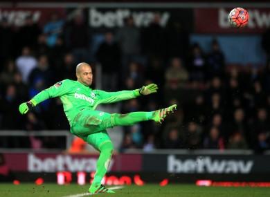 West Ham United goalkeeper Darren Randolph.