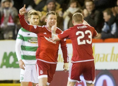 Jonny Hayes has scored four goals in 32 games for Aberdeen so far this season.