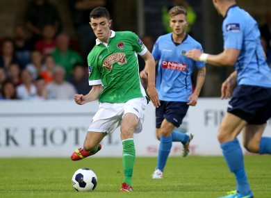 Brian Lenihan playing for Cork City against UCD in July 2014.