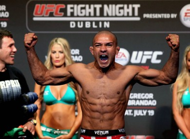 Brandao fought Conor McGregor back in 2014.