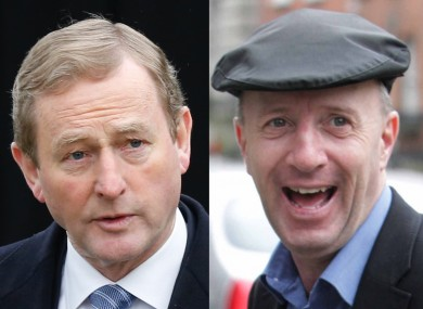Enda Kenny and Michael Healy-Rae