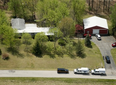 This aerial photo shows one of the locations being investigated in Pike County, Ohio.