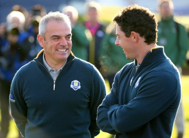 McGinley and McIlroy in 2014