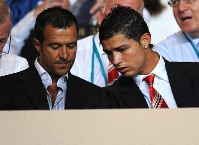 Jorge Mendes with client Cristiano Ronaldo
