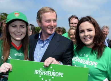 Taoiseach Enda Kenny pictured in London yesterday