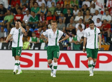 Ireland lost all three group matches at Euro 2012.