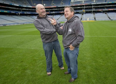 Anthony Daly and current Clare boss Davy Fitzgerald (right).