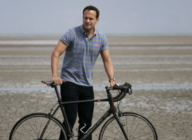 Minister Leo Varadkar an the announcement of a three year sponsorship of Triathlon Ireland by Vodafone in 2014.