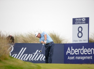 Northern Ireland's Graeme McDowell tees off at the 8th during day three of the 2016 AAM Scottish Open at Castle Stuart Golf Links, Inverness.