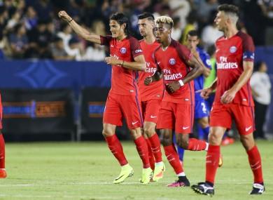 Paris Saint-Germain celebrate