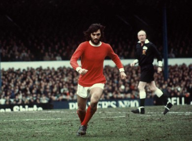 George Best towards the end of his Manchester United career.