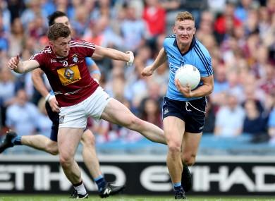 Westmeath's Ger Egan in action against Dublin's Ciaran Kilkenny in last year's Leinster football final.