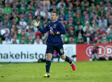 Given on his last appearance for Ireland -- against Belarus at Turner's Cross in May.