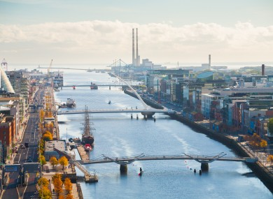 A view of Dublin's docklands.