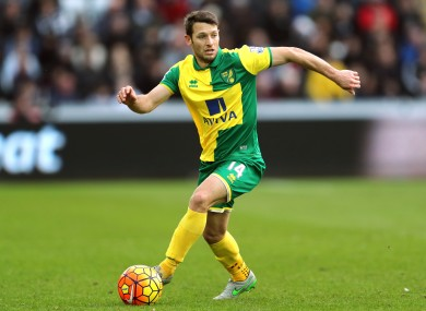 Hoolahan has been with Norwich since 2008.