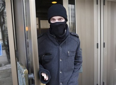 A February 2016 file photo of Aaron Driver leaves the Law Courts in Winnipeg, Manitoba.