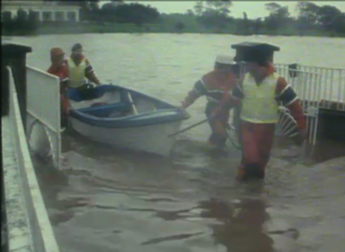 Flooding in Bray after Hurricane Charley in 1986.