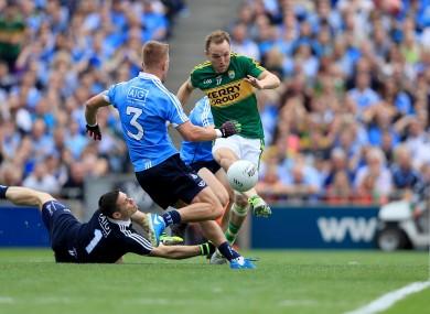 Darran O'Sullivan scores Kerry's first goal.