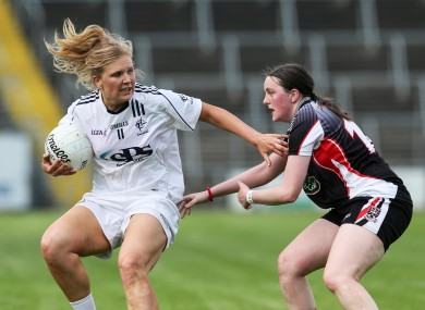 Kildare's Maria Moolick takes on Elaine O'Reilly of Sligo.