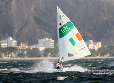 Annalise Murphy is currently third ahead of the medal race.