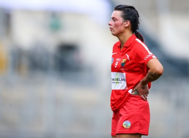 Thompson is still disappointed with the result of the camogie final.