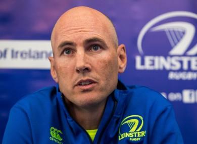 Leinster backs coach Girvan Dempsey.