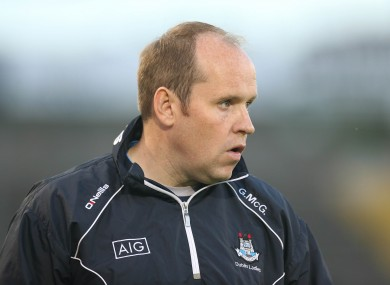 Dublin ladies football manager Gregory McGonigle.