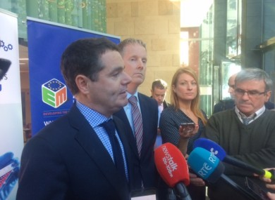 Public Expenditure and Reform Minister Paschal Donohoe tells the media he now faces a challenge of making sure there isn't a contagion effect within the public sector.