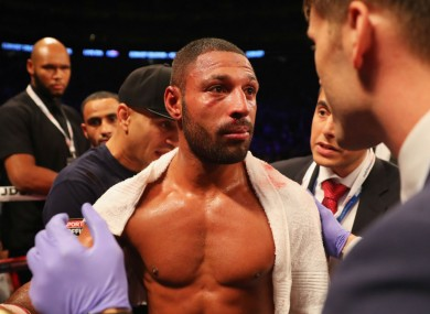 Kell Brook after his fight with Gennady Golovkin.