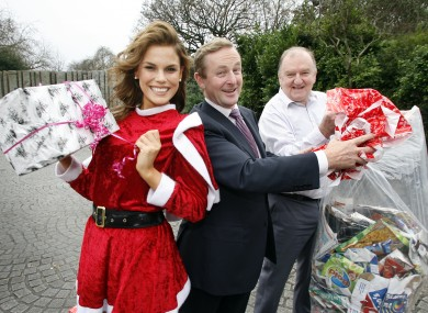 Enda Kenny in 2007 launching a free Christmas recycling service.