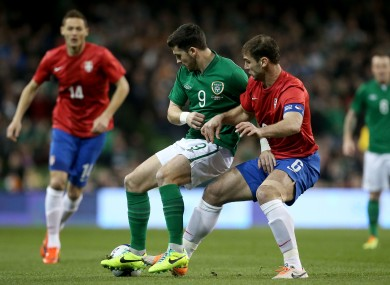 Shane Long shields the ball from Ivanovic when the teams met in 2014.