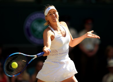 Sharapova tested positive in January of this year.