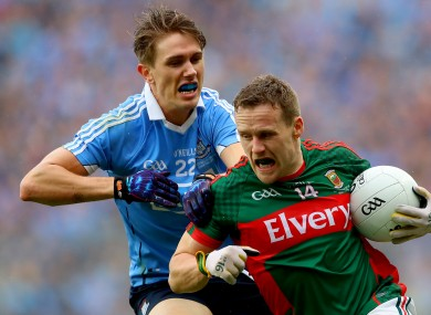 Fitzsimons with Andy Moran during the drawn match last month.