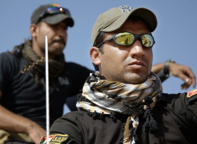 Iraqi special forces soldiers have been deployed for the offensive to retake Mosul from IS.