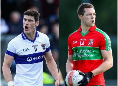 Diarmuid Connolly (St Vincent's) and Dean Rock (Ballymun Kickhams) are both chasing a Dublin title.