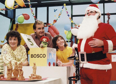 Santa pays Bosco and co. a visit in 1983.