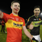 The scars of battle worn by Castlebar Mitchels Aidan Walsh but he can celebrate a win over Crossmaglen.<span class=