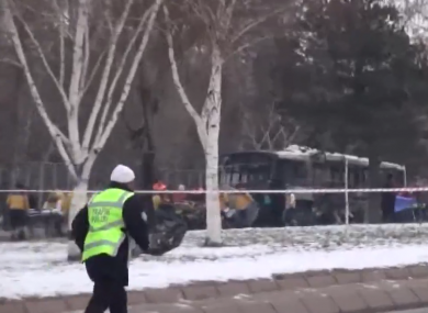 The first footage of the Kayseri bombing in which a bus carrying soldiers was targeted.