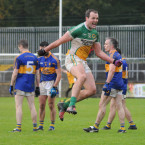 Michael Murphy leaps for joy after Glenswilly come out on top.<span class=