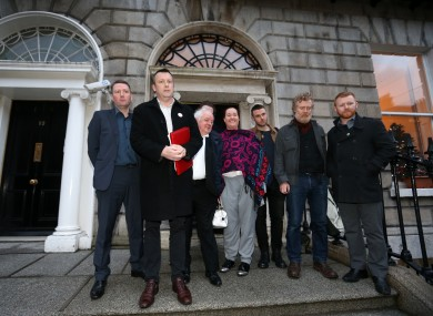 Members of Home Sweet Home ahead of meeting the Government yesterday.