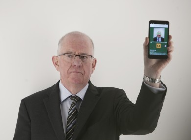 Foreign Affairs Minister Charlie Flanagan launching the passport card back in 2015.